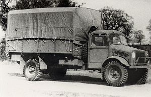 Geschiedenis van Bedford - Eén van de 27.000 Bedford legerauto's