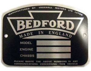 Geschiedenis van Bedford - Productieplaat