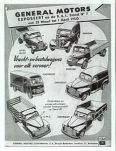 Geschiedenis van Bedford - de AutoRAI van 1950